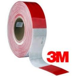 Cinta Reflectiva Roja - Blanca 30Cm 3M