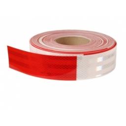 Cinta reflectiva p/camiones roja/blanca TRAMO 5cm x 30cm HX