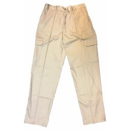 Pantalon cargo algodon Beige Talle 2XL