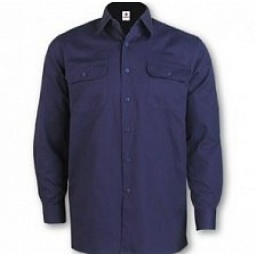 Camisa algodon Castor color azul