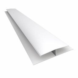 Perfil Cielorraso H PVC 7mm blanco x 6 mts (obra seca)