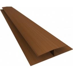 Perfil Cielorraso H PVC 7mm mongo x 6 mts (obra seca)