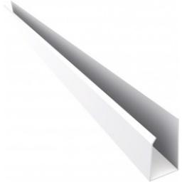 """Perimetral """"U"""" PVC blanco x 6 mts (obra seca)"""