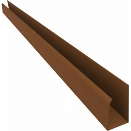 """Perimetral """"U"""" PVC NOGAL x 6 mts (obra seca)"""